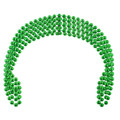DOZEN 7mm St Patricks Kelly Green Party Beads 6555