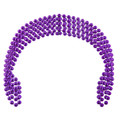 Mardi Gras Beads Purple 7mm DOZEN 6556
