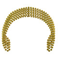 Mardi Gras Beads Gold 7mm DOZEN 6557