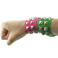 Green Wristband Neon Studded 6511