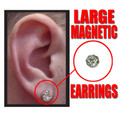 Large Diamond Magnetic Earrings 6540