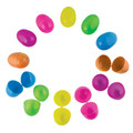 Plastic Easter Eggs Neon Color 100 Pieces 1864
