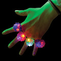 Flashing LED Bumpy Ring - Assorted Colors 12PK 1879