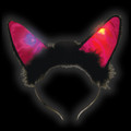 Black Flashing LED Cat Headband 1880