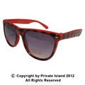 Red Buffalo Checker Wayfarer Style Sunglasses 1067