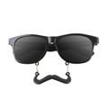 Incognito Sunglasses S1 Black Mustache Vintage 80 Style Sunglasses  7095