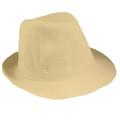 Dozen Classic Beige Fedora Hat 1321D