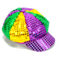 Mardi Gras Sequin Newsboy Cap Adult 1412