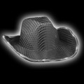 Black Flashing LED Sequin Cowboy Hat 5891