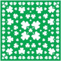 St Patricks Shamrock Green Irish Bandanna 1970