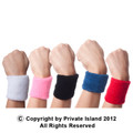 DOZEN Terry Wristbands -  Mix Colors 3069