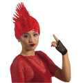 Red Mohawk Wig 6035