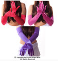 "Wholesale Satin Gloves |   22"" Opera Mix 12 PK (Red, Purple, HP) 1210DZ"