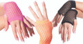 Fishnet Gloves Short Mix Colors 1235a