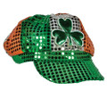 St Patricks Sequin Irish Shamrock Newsboy Cap 1413