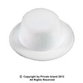 Mini Top Hat with Clips White 5881