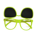 Flip Up Sunglasses 80's Yellow Wayfarer Style 1041
