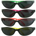 12 Pack Wrap Around Neon Party Sunglasses Assorted Colors 1129