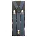 Gray Clip On Elastic Suspenders 1281