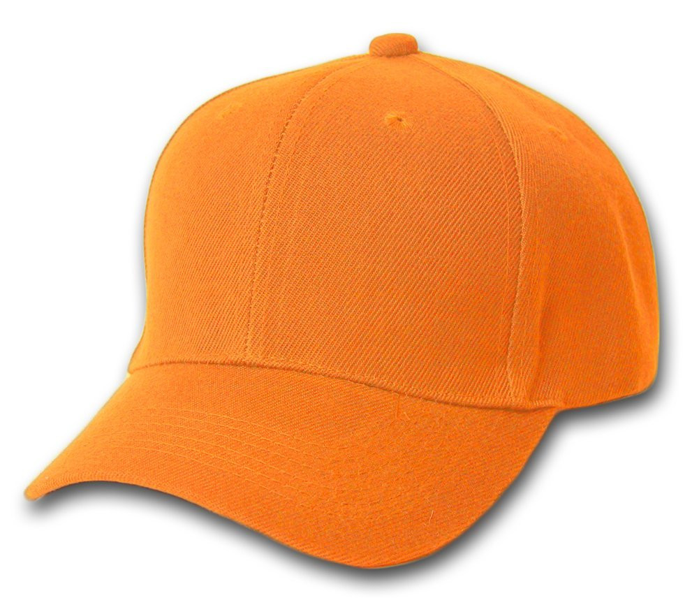orange adjustable baseball cap 1394 island
