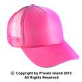 Neon Pink Mesh Trucker Cap 1583