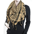 Black And Tan Arab Shemagh Houndstooth Scarf 2087