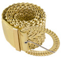 Dozen Gold Diva Wide Braided Belts Mix Sizes 2730A