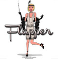 Flapper Costume Black Deluxe 4412