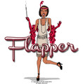Flapper Costume Red Adult 4413