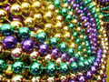 DOZEN 12mm Mixed Mardi Gras Party Beads 6526