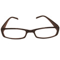 Brown Frame Santa Rectangle Glasses 1174