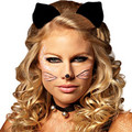 Black Cat Ears Wholesale Clip On Black Cat Ears 1679