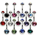 Body Piercing - Belly Ring Assorted Colors 6529