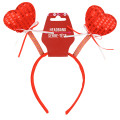 Valentines' Red Sequin Heart Boppers 1816