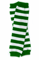 St. Patrick's Sexy Green & White Striped Legwarmers 5203
