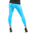 Neon Blue Footless Leggings 8088