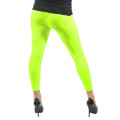 Neon Yellow Footless Leggings 8087