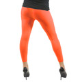 Neon Orange Footless Leggings 8086