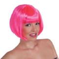70's Neon Pink Bob Costume Disco Wig 6074