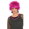 80's Purple Punk Costume Pixie Wig 6084