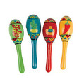 "DOZEN Wholoesale  5"" Cinco De Mayo Real Wooden Fiesta Maracas 1744"