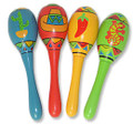 Cinco De Mayo Real Wooden Mini Fiesta Maracas 1745