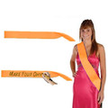"Custom Pageant Wedding Orange Satin Sashes 60"" 6857"