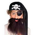 Pirate Beard Black 12PK 9063