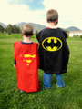 Child Batman and Superman Reversible Cape 4712