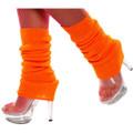 80's Neon Orange Leg Warmer 6749