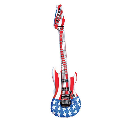 Dozen Patriotic Inflatable Guitars - 42 Inch