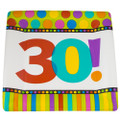 """Square Paper Plates 10"""" Dots and Stripes Pattern 3803"""