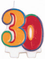 30th Birthday Candle Flat Molded 3805