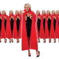 Costume Red 56 Inch Cape Dozen 4520D